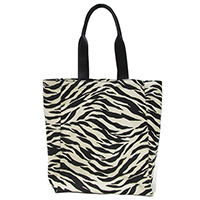Printed Canvas / PU Handbag, WJS-Y19351 ZEBRA