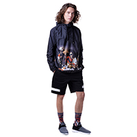 Fool's Day Dinning Print Pullover Windbreaker