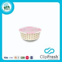 Ceramic Round Food Storage (Push Button) 0.29L