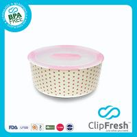 Ceramic Round Food Storage (Push Button) 1.5L