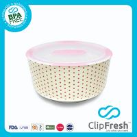 Ceramic Round Food Storage (Push Button) 2.8L
