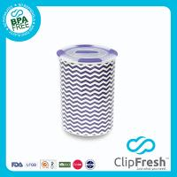 Ceramic Round Soup Storage (Push Button and Non-sliping) 1.2L