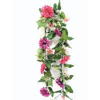 6 inches MUM LILAC HEATHER MIXED GARLAND