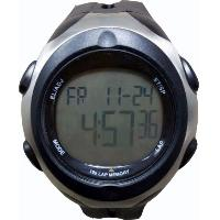 Black Calendar Date Dual Time Zone Digital High-Precision Wrist Stopwatch 100 LAP, W101