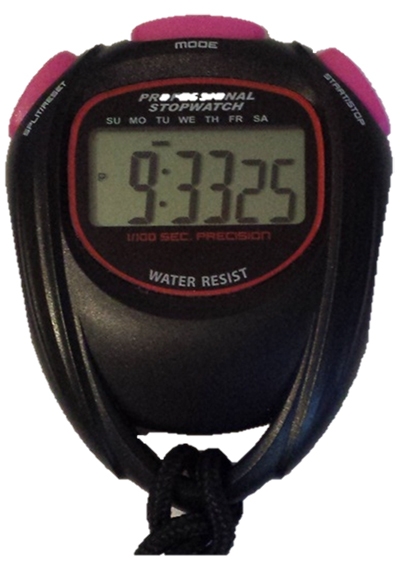Stopwatch with Large Display Lanyard Alarm Self-Serviceable Battery Sports Stopwatch
