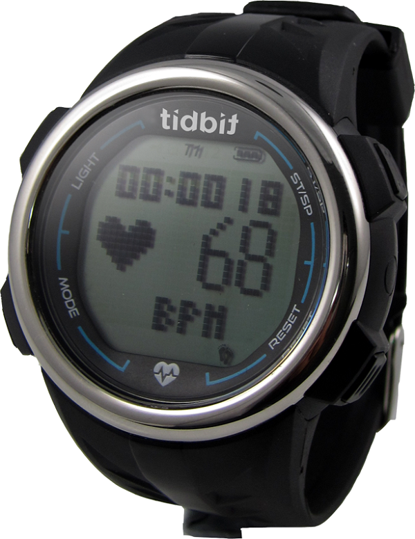 Tidbit Strapless Latest Step & Calorie Burning & Distance Traveled Count Store Record Heart Rate Rechargeable Water Resistance Monitor Sports Watch