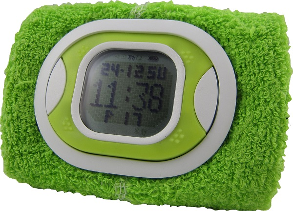 Tidbit Strapless Step & Calorie Burning & Distance Traveled Count USB Rechargeable Water Resistant FSTN LCD Stopwatch Washable & Detectable Sweatband