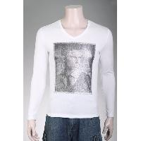Mens LongSleeve T-Shirt with Beads
