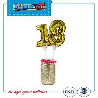 5inch Number Self Inflating Balloons