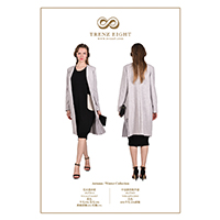 Sleeveless Straight Dress & Classic Coat with Pleat