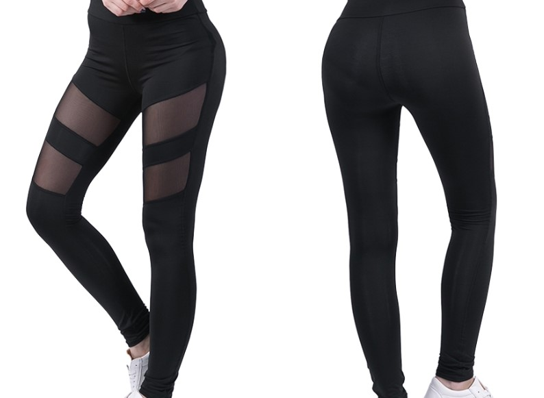Ladies with mesh fabric Yoga Pant