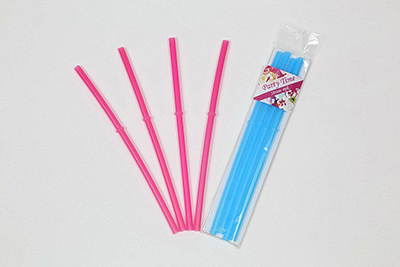 4PK Straw in Poly Bag