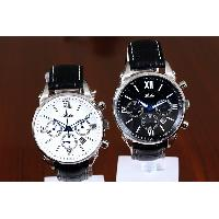 Chinese Wholesale Leather Watches / Pretty Classic Waterproof Multi-dial Quartz Watch
