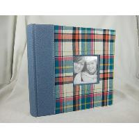 Flannel Fabric Cover 2UP Book Bound Album