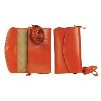 Castello Snap Closure Cowhide Leather Smartphone Case with Wristlet