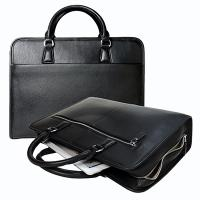 Castello Classic Leather Zipper Briefcase