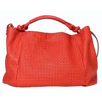 Castello Women's Versatile Weaving Mesh Leather Handbag, Handbag-09