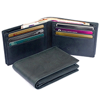 Men's Billfold Leather Wallet w/Spacious Bill Compartment