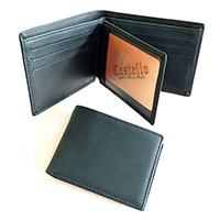 Cowhide Leather Men's Bi-fold Wallet w/Multiple Card Pockets