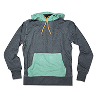 Mens Heather Colour Sweat Hoodie