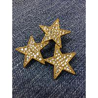 Star Brooch with Stone, WST-010