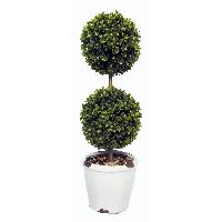 Faux Grass Balls w/ Rustic Ceramic Base, LZ94284