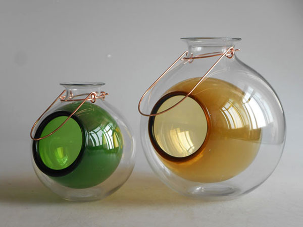 Green/Yellow Double-layer Tea Light Holder