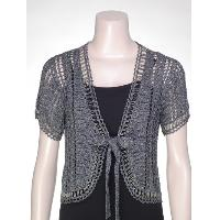 Crochet beaded cardigan