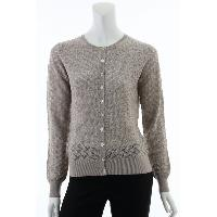 Ladies 55% Silk 45% Cashmere Knitted Cardigan