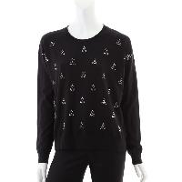 Ladies 95% Cotton 5% Cashmere Knitted Pullover with Beading