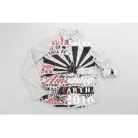 Boy's 100% Cotton Woven Shirt with Print