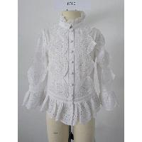 Eyelet Lace Cotton Blouse, FW15641-F