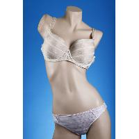 Jacquard Padded Wire Brassiere/Thong Set