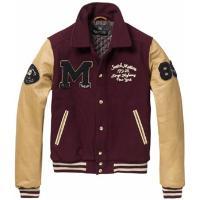 Men's woolen baseball jacket