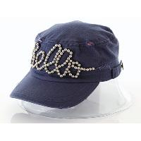 d95c795dc3e ... Herringbone Twill Military Hat with Beaded Wording