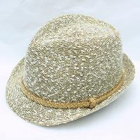 Knitted Fedora with Gold Chain