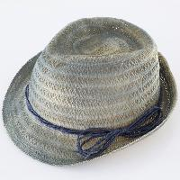 Straw Hat with Vintage Paint