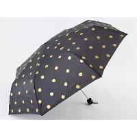 Compact Umbrella with Gold Foil Print