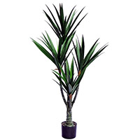 48 inches UV Resistant Plastic Kentia Palm x4 w/76 Lvs