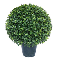 20 inches UV Resistant Plastic English Ivy Ball Shape Topiary w/2346lvs